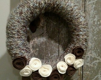Custom Country/Shabby Floral Wreath