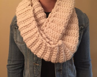 White and Gold Infinity Scarf