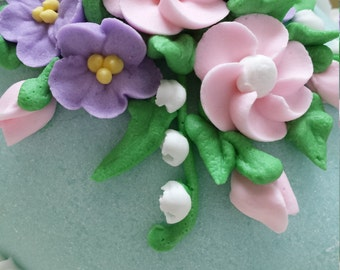 Royal Icing Flowers - Custom - Large Drop Flowers