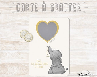 VERSION French - Scratch - card Godfather - godmother - elephant Theme request