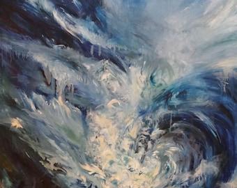 Underwater Print   Oil Painting