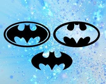 Batman SVG File, Bat Cutting File, Superhero Cuttable Design, Cutting Files, Cameo, Cricut, Silhouette, Dxf file