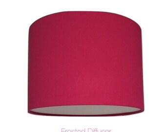 Pink  Drum Lightshade With Diffuser  / Various Sizes / 40cm / 45cm / 50cm