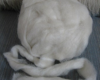 Purebred Costwold Roving  - Natural White - 1 Pound