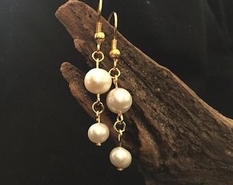 Pearl Earrings Freshwater Baroque Pearls
