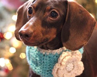 Dog Neck Warmer - Dog Scarf - Dog Clothing - Dachshund Clothing - Fashion Pup