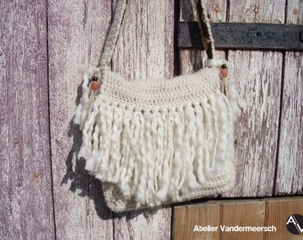 White fringe bag