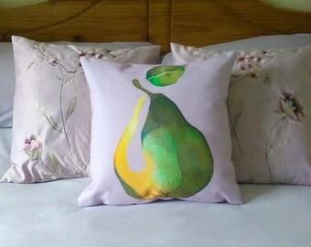 Illustrated Pear Cushion