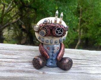 Steampunk Goggles clay figurine