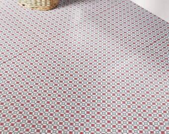 Rose Des Vents Red Vinyl Floor Tiles By Zazousonline On Etsy