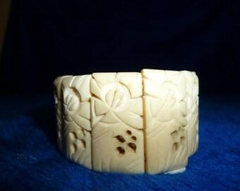 Hand carved ivory bracelet