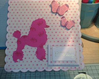 Poodle Pop Up Card