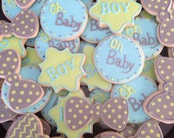 Baby Boy Shower Cookies 2 Dozen