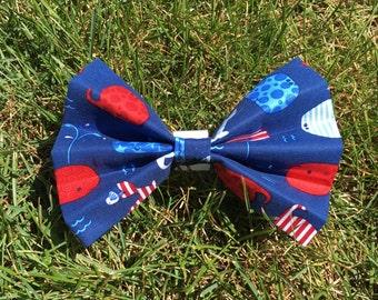 Patriotic Whale Bow Tie