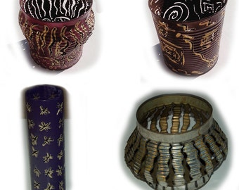 Recycled tin candle set of 10