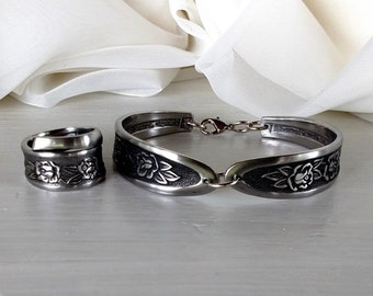 Dinnerware Spoon Bracelet and Ring Set
