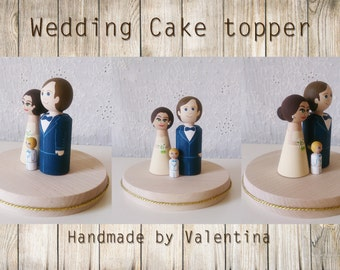 Wedding cake topper / wedding cake figure