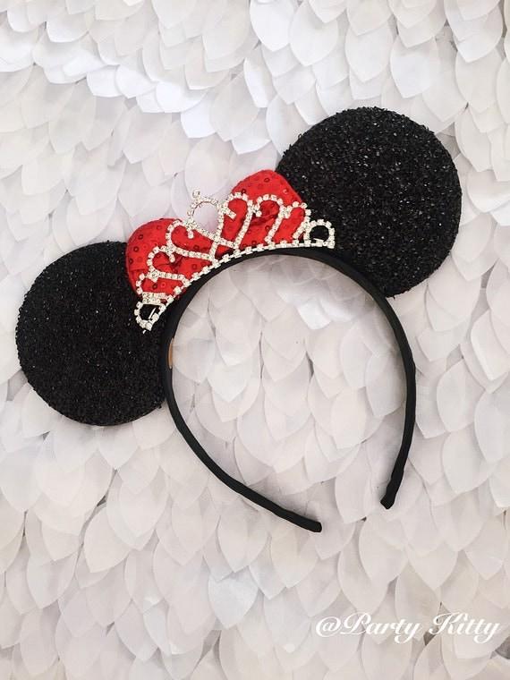 Disney Wedding Minnie Mouse Ears Crown Tiara Disney