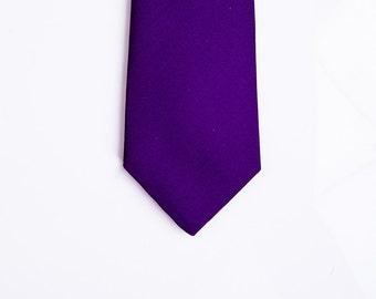 Handcrafted Men's silk ties- Deep Purple