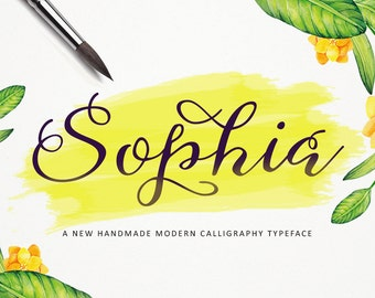 5 digital fonts for 5 dollar - Handwritten font download. Calligraphy font. Get these downloadable fonts, perfect as a wedding font or craft