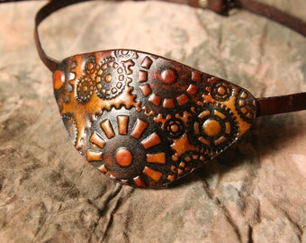 Steampunk Eyepatch  -- Leather Eye Patch --  Adult Eyepatch -- Eye Patch --  Costume Eyepatch Made in the USA -- Ready to Ship!