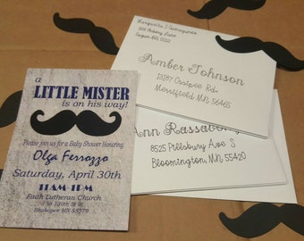 PRINTED with ENVELOPES baby shower invite