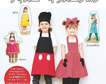 "Japanese Sewing Book""Disney Children's apron"""