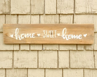 Rustic Home Sweet Home Sign, Salvaged Wood Sign, Home Sweet Home Pallet Sign, Ready to Ship