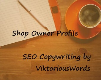 Shop Owner Profile, SEO Copywriting, Keywords, Product Marketing, Strategy, SEO Original Content Copywriting, Shop Promotion, SEO Writing