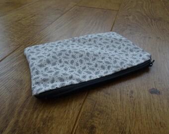 Leaf Pattern Makeup bag or Pencil Case