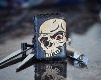 Custom Tooled Leather Zippo Lighter Case