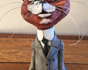 Mr. Cat - hand sculpted