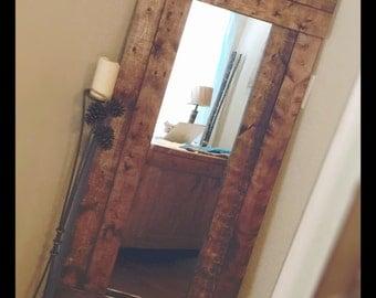 Wood wall mirror medicine cabinet