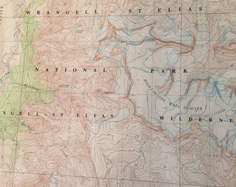 Vintage US Alaskan Geological Survey Maps
