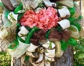 Mother's Day gift, Father's Day gift, summer wreath. Uniquely special gift for weddings, birthdays, and housewarming!