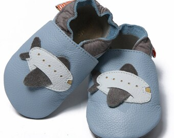 Soft sole leather baby shoes - Jumbo