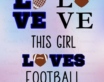 Football Love set of SVG Cutting files for Silhouette cameo and Cricut design space. Patterned Football heart football SVG cut files.