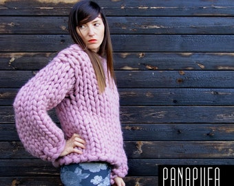 CHUNKY KNIT SWEATER, Oversized Pullover, Chunky yarn cardigan, Giant sweater, Giant Knit Sweater, Chunky Knit sweater, Big Yarn sweater