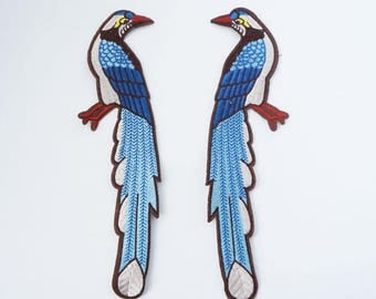 """9.5"""" Big Size Bird Embroidered Sew On Clothes Jacket Patch Applique"""
