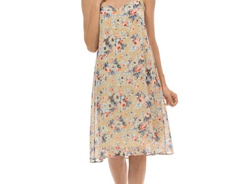 Women's Pleated Foral Slip  Swing Dress (5 COLORS)