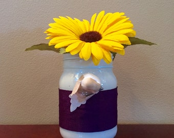 Sunflower Upcycled Jar