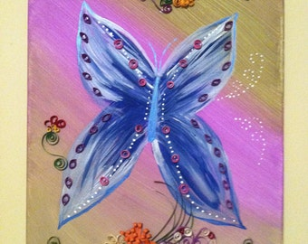 Tickle my fancy painting, artwork with quilling