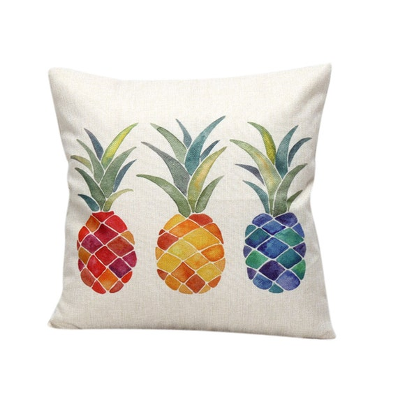 Colorful Pineapple Throw Pillow Case Cover - FREE SHIPPING