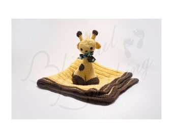Gerry Giraffe Crocheted Stuffed Animal with Optional Blanket