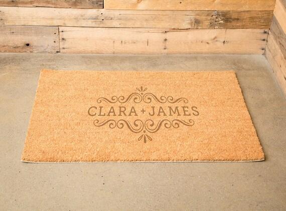 Personalized Family Name Door Mat Large Coir Door Mats