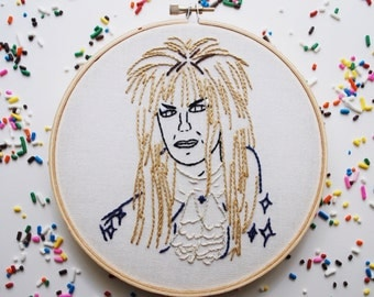 The Goblin King Embroidery - David Bowie