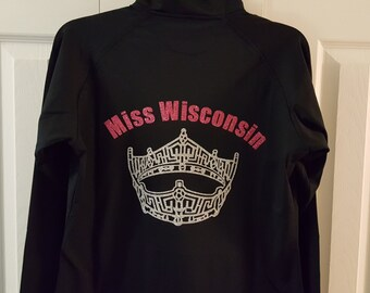 Custom Pageant Crown & Title Jacket