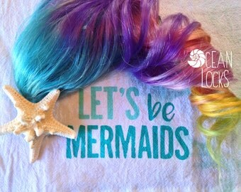 Rainbow Hair Extensions, Unicorn Hair, Clip In Hair,  Orange Hair, Blue Hair,Pink Hair, Pastel Hair, Ombre Hair, Pride Hair