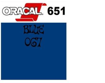 Oracal 651 Vinyl Blue (067) Adhesive Vinyl - Craft Vinyl - Outdoor Vinyl - Vinyl Sheets - Oracle 651