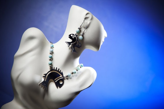 Fish Ethnic Jewelry Set